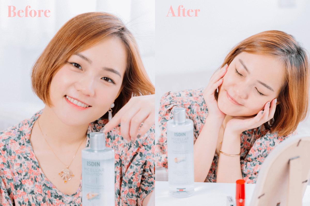 正確卸妝步驟教學。卸妝產品該怎麼挑?卸妝水推薦ISDIN卸妝潔膚水|卸妝同時是保養