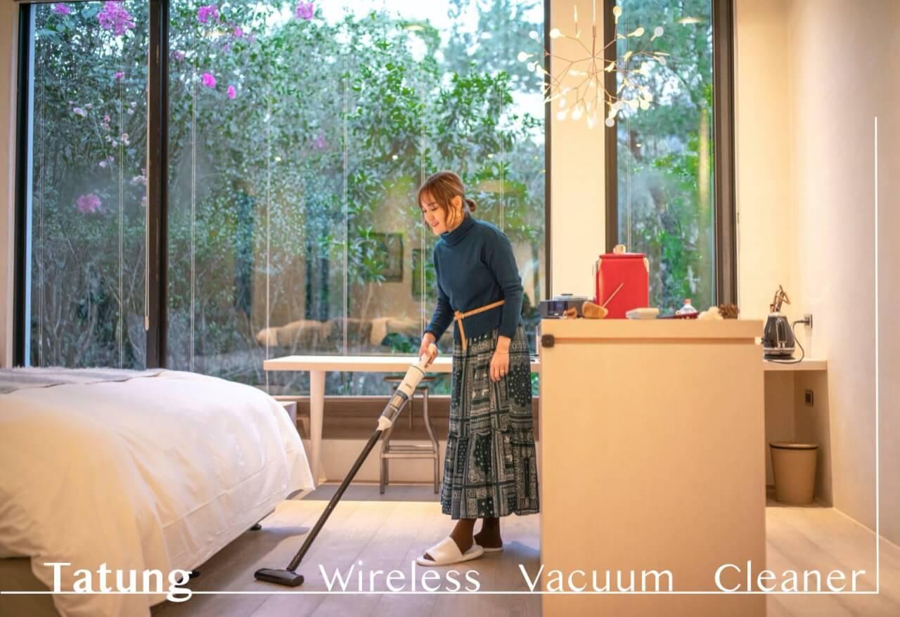 讓打掃變得優雅輕鬆|最輕的吸塵器。大同無線手持吸塵器
