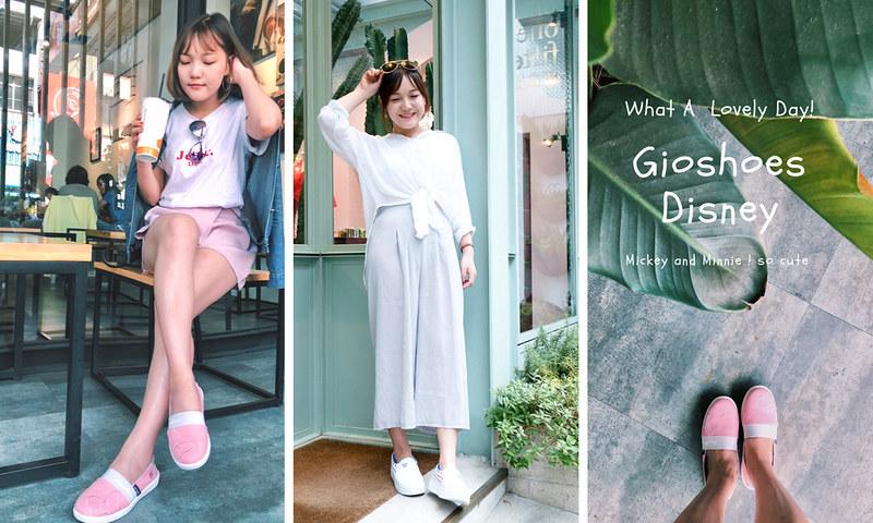 Disney正版授權休閒鞋陪你一起初夏小旅行|米奇百搭小白鞋X米妮粉色懶人鞋